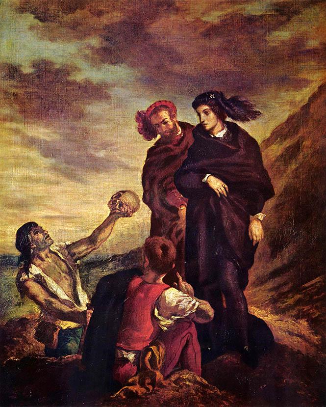 (Horatio ve Hamlet), Mezar Kazıcı Sahnesi) Eugene Delacroix, 1839