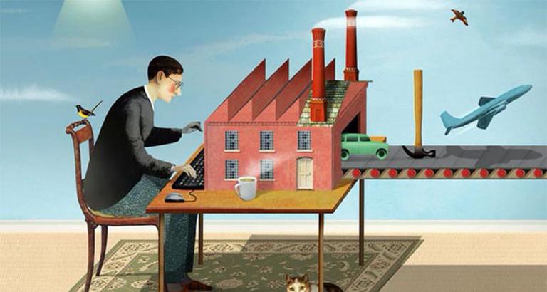 Sanayi Devrimi (Çizim: Brett Ryder)