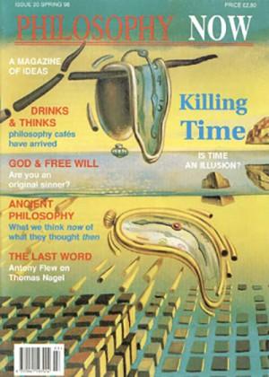 """Dali'nin """"Belleğin Azminin Dağılışı"""" (1954) tablosunu yayınlayan 1998 Philosophy Now kapağı."""