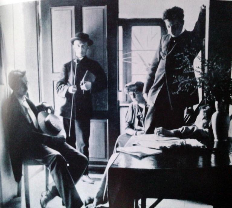 Rainer Maria Rilke ve Lou Salome arkadaşlarıyla birlikte.