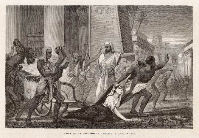 Hypatia'nın Ölümü © Louis Figuier/Wikimedia Commons