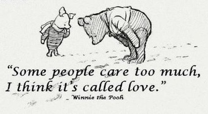 """""""Bazı insanlar çok fazla umursar. Sanırım bunun adı aşk."""""""
